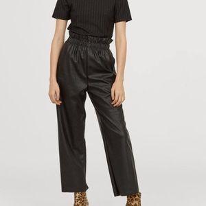 H&M Leather paper bag pants